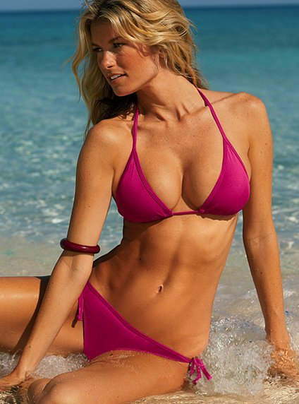 The Triangle Bikini Set starts at $24 for solids.